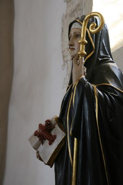 Heilige Adelgundis in der Kirche auf dem Staffelberg