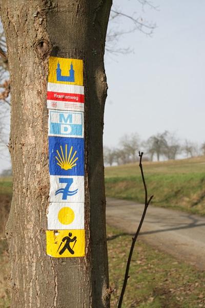 Weg von Vierzehnheiligen zum Staffelberg
