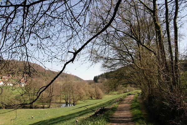 Wanderweg durchs Trubachtal bei Egloffstein