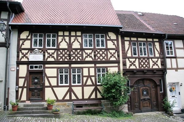 Fachwerkhäuser in Königsberg in Bayern